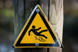 Slide and Fall sign