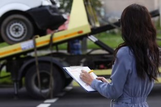 Ordering a tow truck after an accident